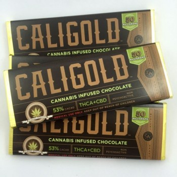 THCA + CBD Bar – 50MG - Chocolate - Cali Gold