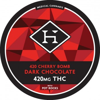 Cherry Bomb Chocolate Bar - 420mg - Chocolate - Hashman Infused