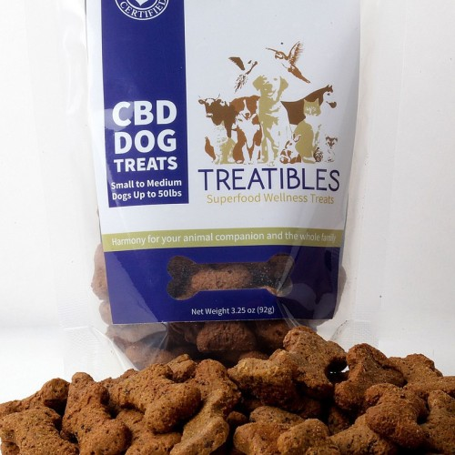 CBD Dog Treats - Small Blueberry Treat Logo