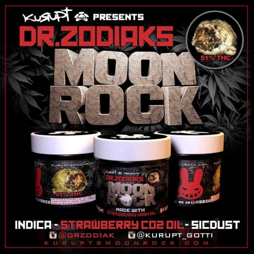 Strawberry SICKEST - Moon Rocks Logo